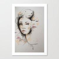 valentina Canvas Prints featuring Valentina by Oriane Jouët