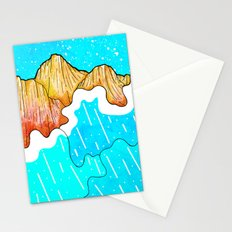 The cliff and the sea's waves Stationery Cards