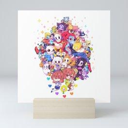 UNDERTALE MUCH CHARACTER Mini Art Print