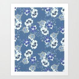 romantic floral Art Print