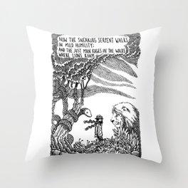 William Blake Illustration Throw Pillow