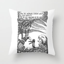 William Blake Illustration Throw Pillow