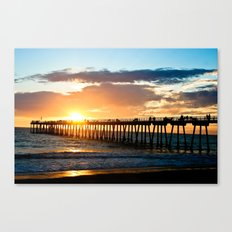 Hermosa Pier (2) Canvas Print