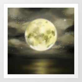dear moon Art Print