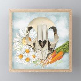 Rabbit Skull Cenotaph Framed Mini Art Print