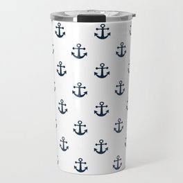 Navy Anchors Travel Mug