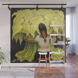 The Cuauhnāhuac Calla Lily Vendor by Diego Rivera Wall Mural