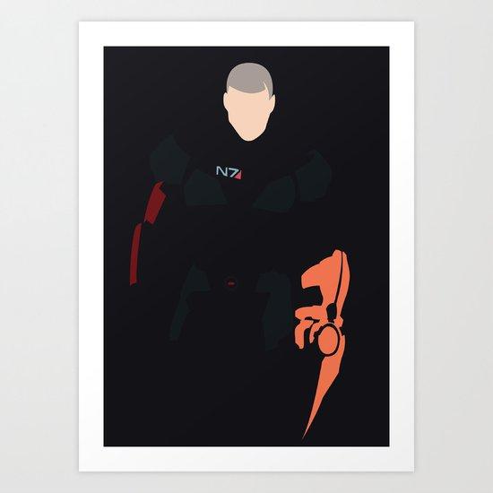 Mass Effect - Male Shepard Art Print