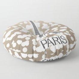 Paris: City of Light, Eiffel Tower (Beige) Floor Pillow