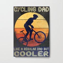 Cycling Dad Metal Print