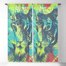 Wild Tiger Jungle Big Cat Exotic Illustration Blackout Curtain