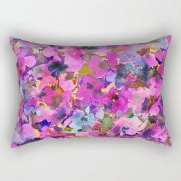 Pink Rainbow Garden Rectangular Pillow