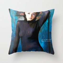 Blue Wall Throw Pillow
