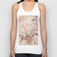 cincinnati Tank Tops featuring Cincinnati by MapMapMaps.Watercolors