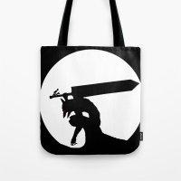 berserk Tote Bags featuring Gatsu berserk armor by Ednathum