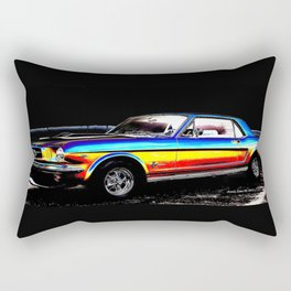 Muscle Car Mustang By Annie Zeno  Rectangular Pillow