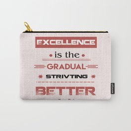 Always striving to do better Pat Riley Inspirational Basketball Player Quote Carry-All Pouch