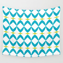 Poolside in Turquoise Wall Tapestry