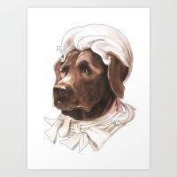 labrador Art Prints featuring Labrador by Petty Portraits