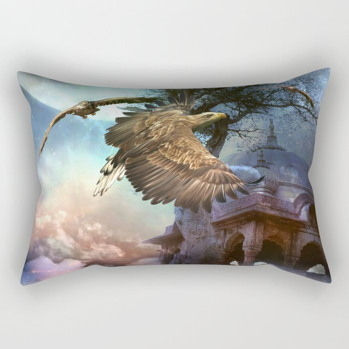 Awesome flying eagle Rectangular Pillow
