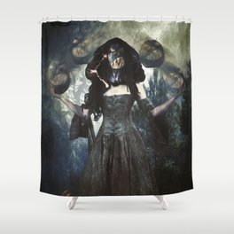 Juggling Halloween Shower Curtain