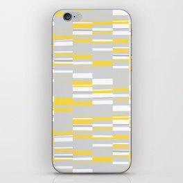 Mosaic Rectangles in Yellow Gray White #design #society6 #artprints iPhone Skin