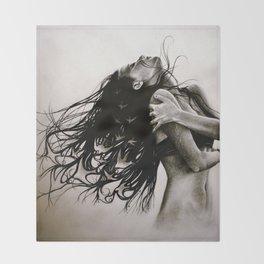 When Dreams Escape Throw Blanket
