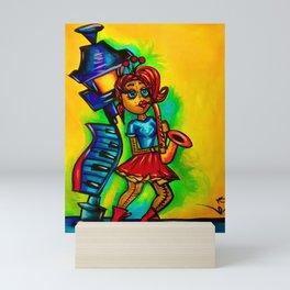 Voodoo doll saxophone player Mini Art Print