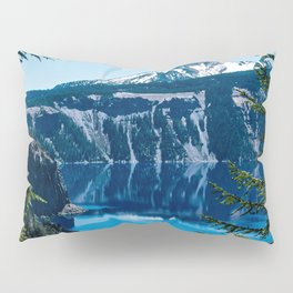 Crater Lake // Incredible National Park Views of the Dark Blue Waters Sky and Mountains through the Pillow Sham