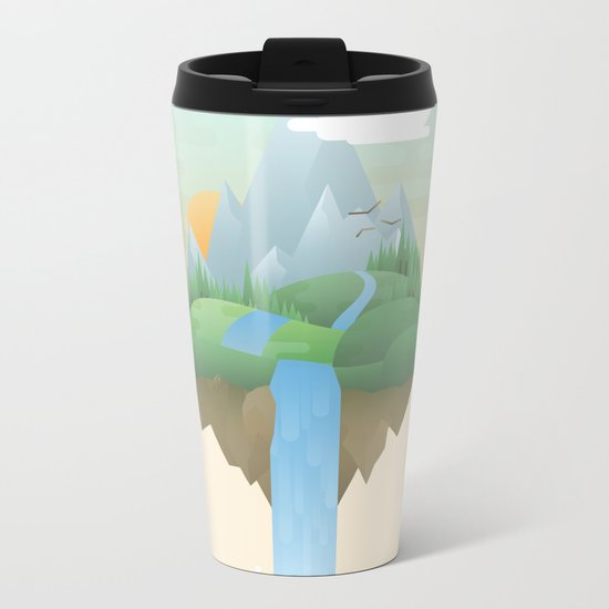 Our Island in the Sky Metal Travel Mug