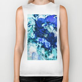 Liquid Abstract Biker Tank