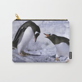 Chatting Penguins Carry-All Pouch