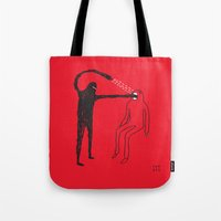 mouth Tote Bags featuring Mouth by Fupete Art