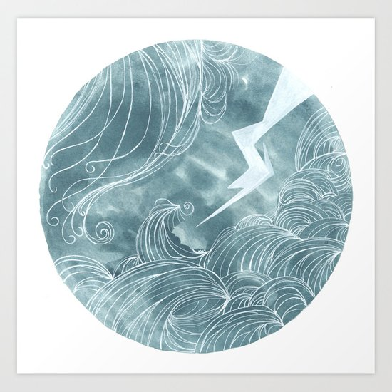 The wave in a bubble Art Print