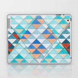 Triangle Pattern No.10 Shifting Turquoise and Orange Laptop & iPad Skin