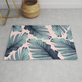 Blush Banana Leaves Dream #9 #tropical #decor #art #society6 Rug