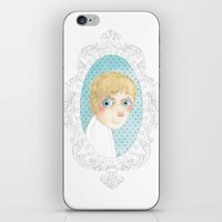 luke hemmings iPhone & iPod Skins featuring Luke by Jacqueline Hudon Illustrations