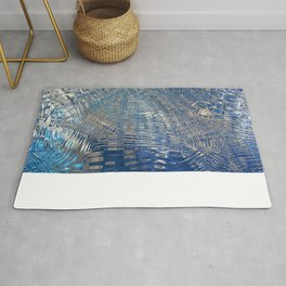 freeze glass with trees Rug