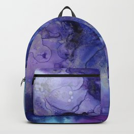 Abstract Watercolor and Ink Backpack