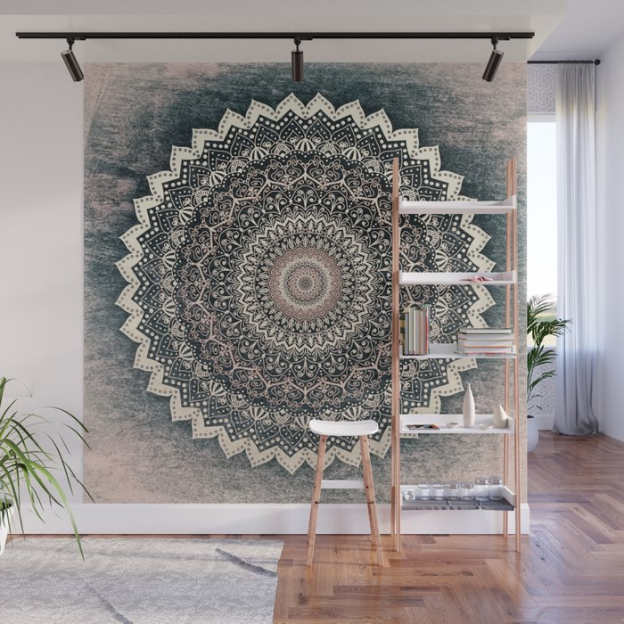 WARM WINTER MANDALA Wall Mural