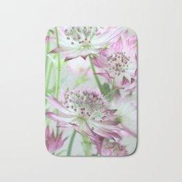 Pastel Pink Astrantia Flowers Bath Mat