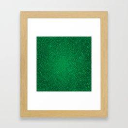 Jade Green Sparkling Jewels Pattern Framed Art Print