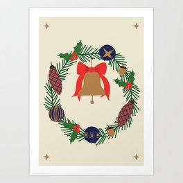HAPPY CHRISTMAS. I Art Print