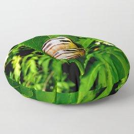 Snail on Leaf Floor Pillow