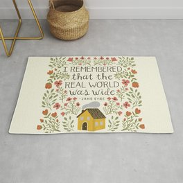 "Jane Eyre ""World Was Wide"" Quote Rug"
