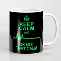 keep calm Mugs featuring Keep Calm by Alice Gosling