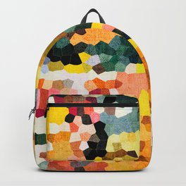 Feel Good Colors, A Warm Abstract Mosaic Backpack