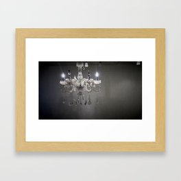 chandelier in NYC Framed Art Print