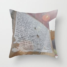 writing on the wall::nyc Throw Pillow