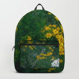 Flowers On the Edge Backpack